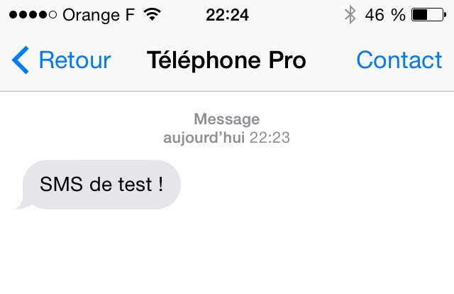SMS reçu !